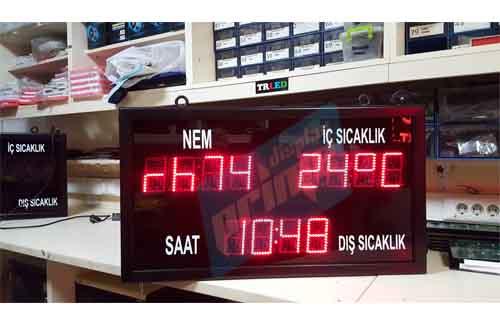ledli_saat_ledli_derece_nem_termometre_ yüzme havuzu hamam termal saat derece nem takvim sistemleri